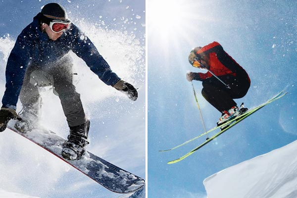 Skiing vs Snowboarding