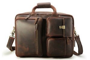 Tiding Vintage Genuine Leather Convertible Backpack